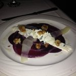 Beet and Anjou Pear Carpaccio