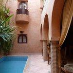 Espace centrale du Riad