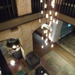 View down into foyer