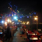 Night cafes along the riverside by hotel