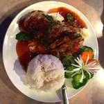 Duck with spicy sauce at Viman Thai.