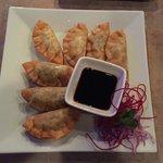 Vegetarian dumplings at Viman Thai.