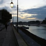 The beautiful Rhone River is less than a block away from the hotel.