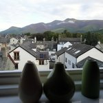 Early morning view of Skiddaw from my bedroom window