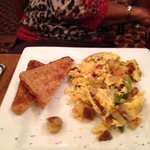 Italian scramble Platter with whole wheat toast