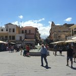 Old Port square, 5 minute walk from the Hotel Arkadi