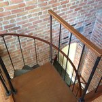 Spiral Staircase Leading to First Floor of Suite