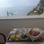 Breakfast on the balcony every morning