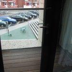 small balcony overlooking Smithfield Square
