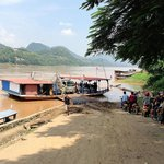 Ferry across the Mekong