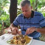Enjoying savory Lomito