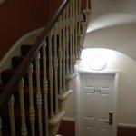 escaleres super empinadas del hotel