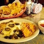 Best chicken enchiladas and chips and salsa ever!