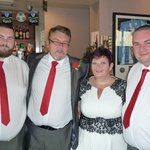 groom, his parents and brother as best man