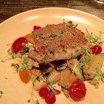 Pistachio crusted halibut