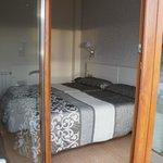 Zimmer aus Sicht der Terrasse