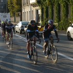 Cycling race in the morning at Tournon