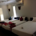 our beds at the Bungalow Villa 1