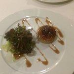 Tarrina de foie y compota de manzana