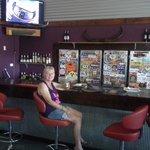 Bar in roadhouse.
