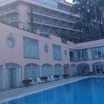 Blick auf Hotel