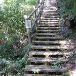 急な階段が続きます