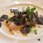 Hamachi with black truffle