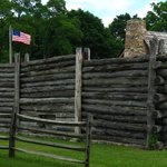 Exterior with Betsy Ross flag