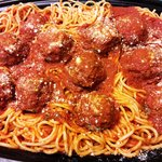 Hand-rolled Meatballs and Spaghetti