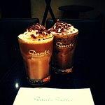 ICED MOCHA COFFEE WITH CHOCOLATE FLAKES
