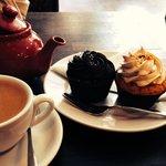 Cupcakes dark chocolate et vanille/nutella