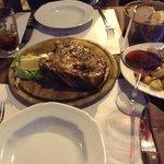 T-Bone, potatoes & grilled vegetables