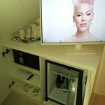 TV, mini-bar, kettle and good safe