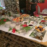 The inviting cold buffet table to help yourself to while awaiting the warm breakfast. Delicious