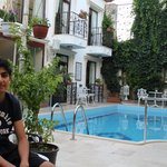 Omeed (my son) at the pool