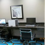Business center in the lobby.