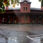 Cafe is in old train station