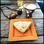 Maple Pecan Scone and Soya Latte