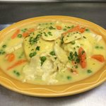 Chicken and Dumplings w/ Mashed Potatoes