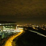 The Wembley Stadium at night from the window of my room