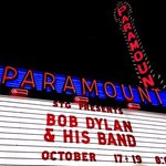 Bob Dylan at the Paramount Theatre across the street