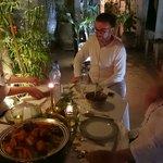 Dîner au Riad, avec l excellente cuisine de Fatima