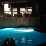 Beautiful backlit night time relaxation pool