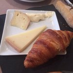 Delicious bread and cheese