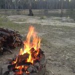 Fire by the campsite