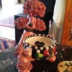 Whimsical poodle dish at Bogart's