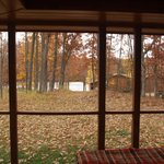 View from our screend in porch of the lake