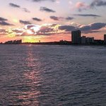 sunset from the pier