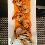 Beautifully presented Garlic Shrimp