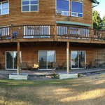 panoramic view of the back of the house.